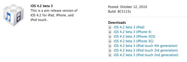 iOS 4.2 Beta Download