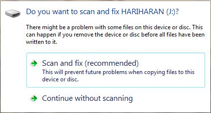 scan and fix window