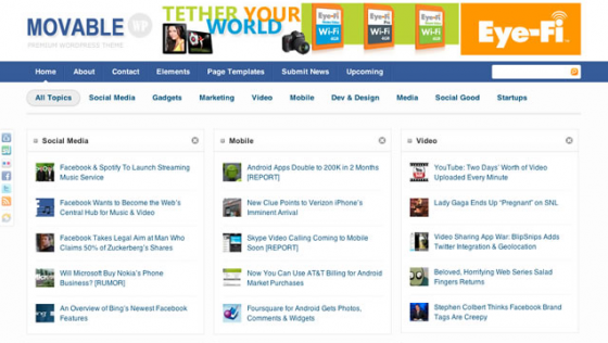 Movable WordPress Theme