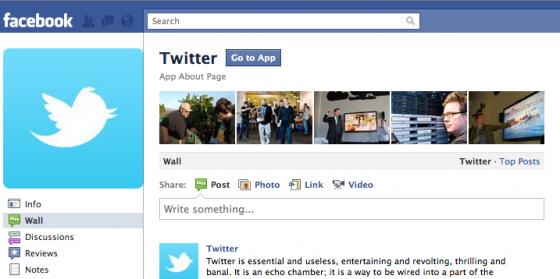 Twitter App for Facebook