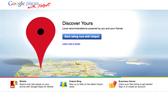 Google Places with Hotspot