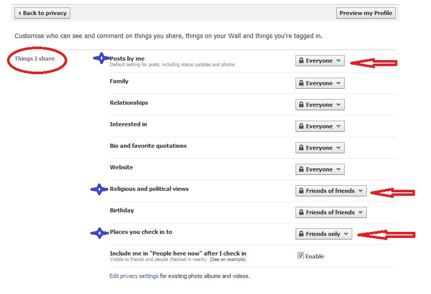 facebook privacy settings 5