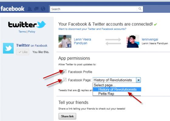 Twitter App for Facebook 2