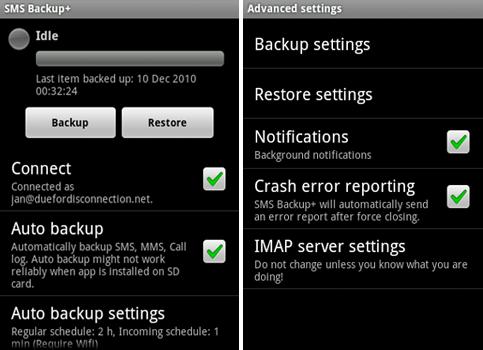 sms-backup+ screenshot