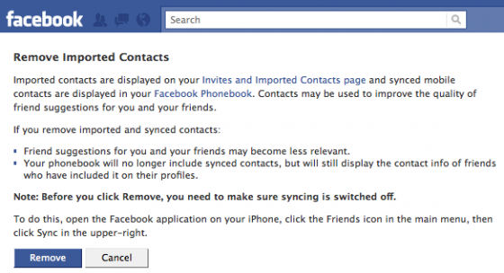 facebook contacts 2