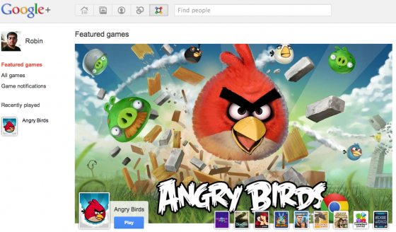 google plus angry birds