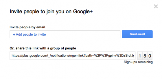 google plus invite