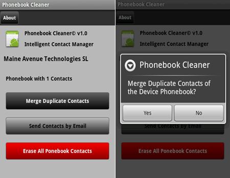 phonebook cleaner
