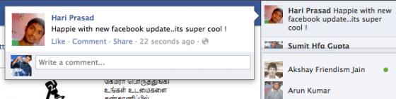 facebook newsticker