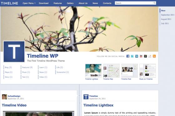 facebook timeline theme