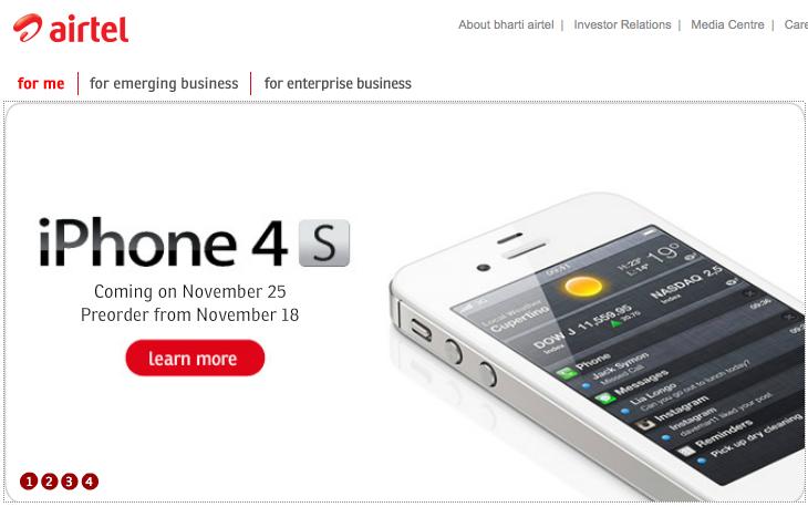 iphone 4s airtel