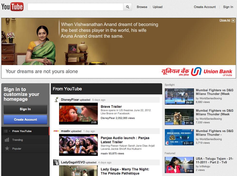 youtube new design