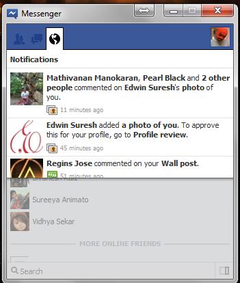 facebook messenger notification