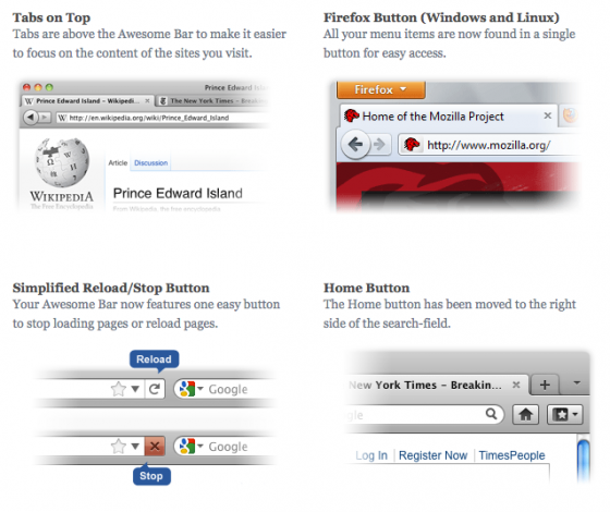 firefox 10 features