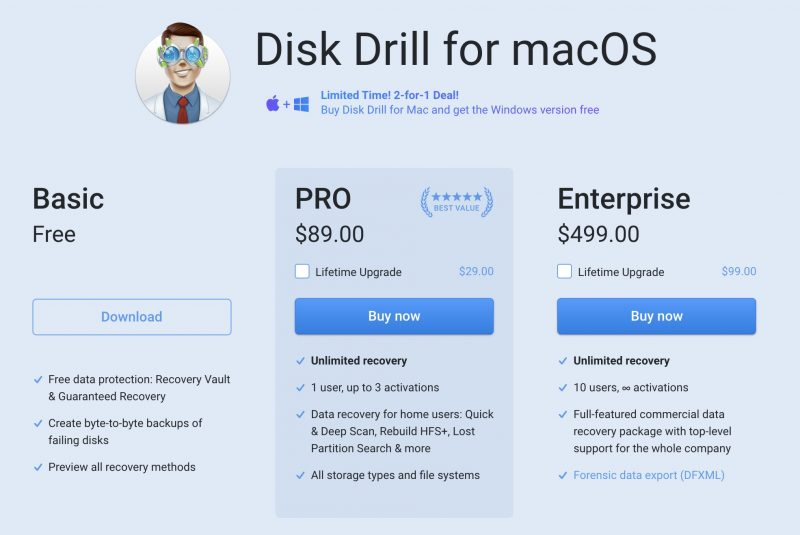 disk drill pro mac windows download