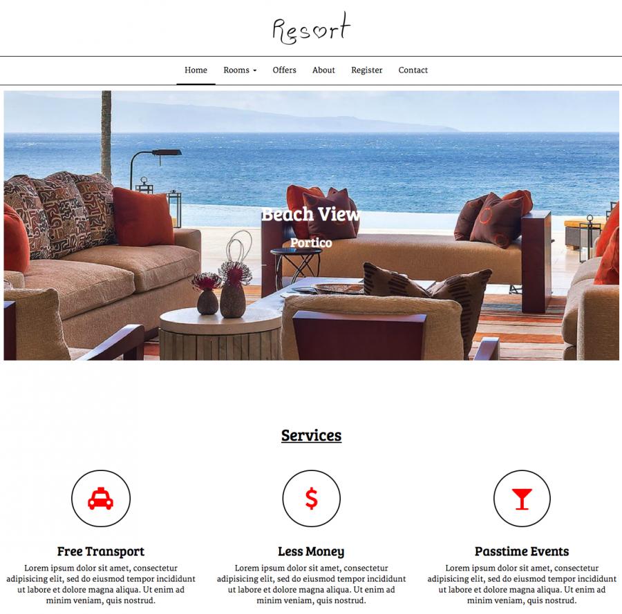 resort-joomla-template