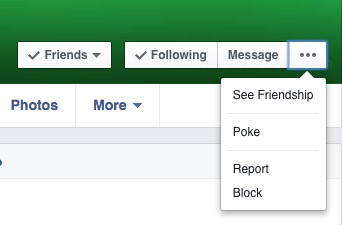 report fake facebook profile