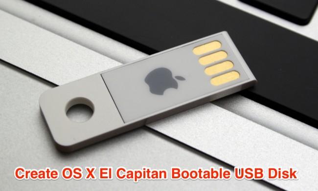 create os x el capitan bootable usb