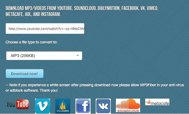 mp3fiber youtube video mp3 converter