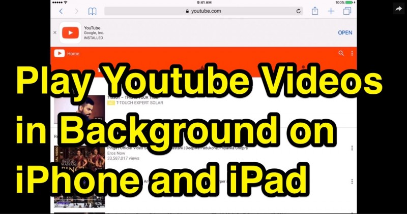 how to play youtube videos in background iphone