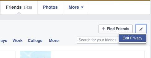 hide friends list facebook 2