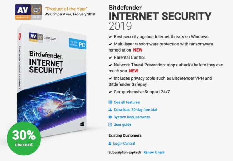 bitdefender internet security discount coupon
