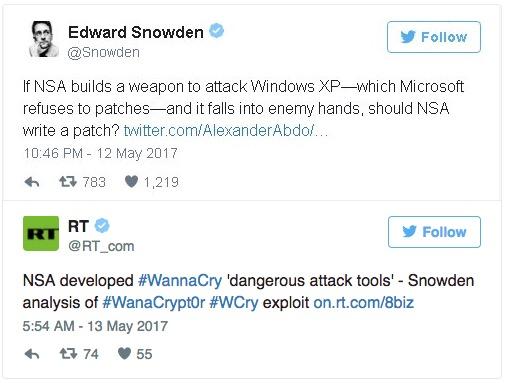 edward snowden wannacry ransomware
