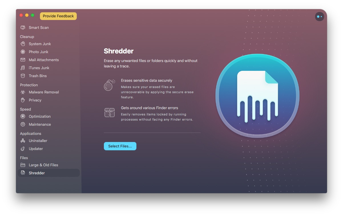 cleanmymac x review shredder