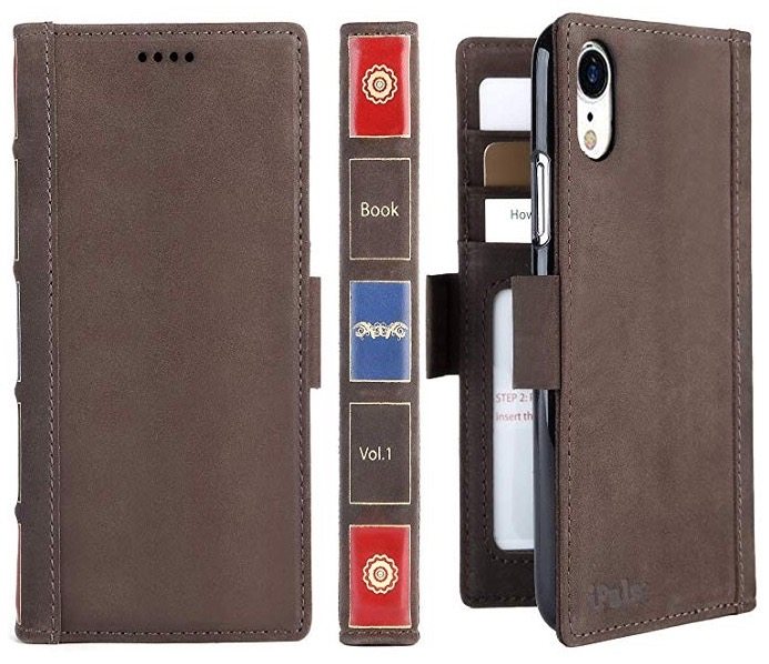 leather wallet case iphone xr vintage