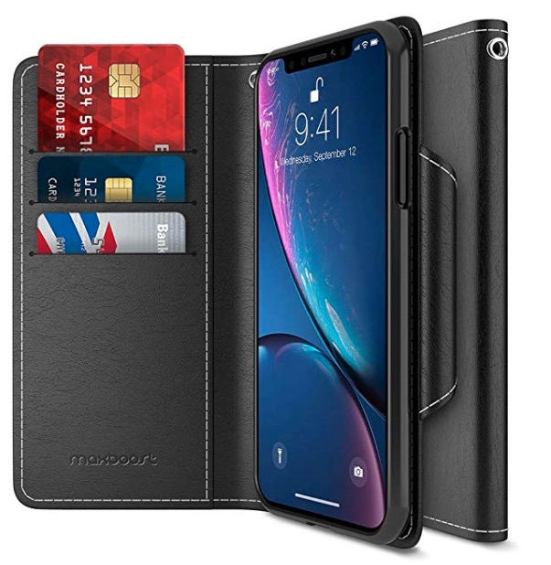 maxboost wallet case for iphone xr