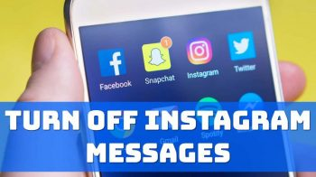 turn off instagram messages