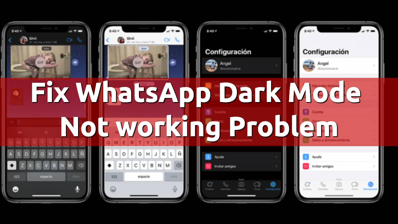 fix whatsapp dark mode not working