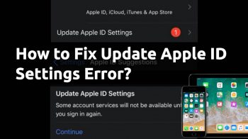 how to fix update-apple id settings error iphone ipad