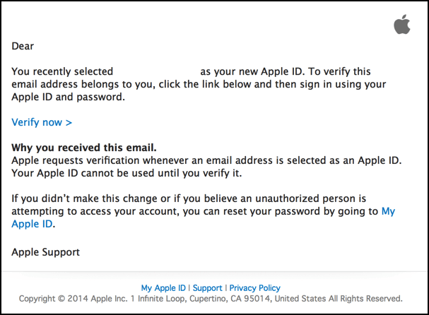 update apple id settings verification failed