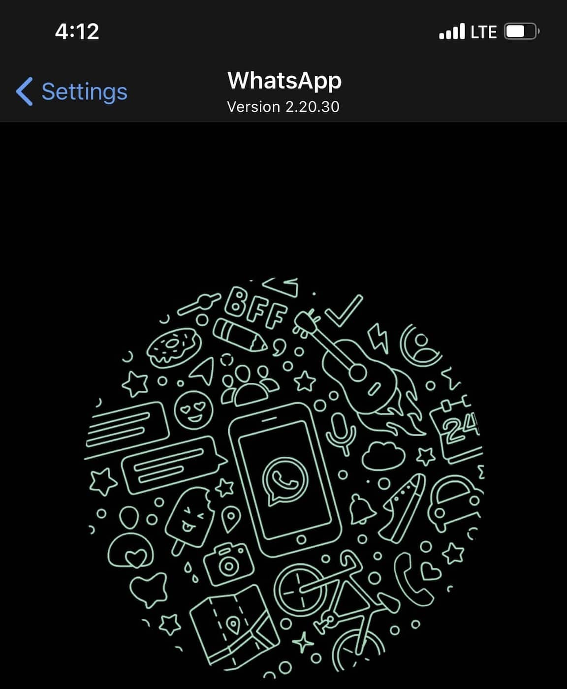 whatsapp dark mode version update