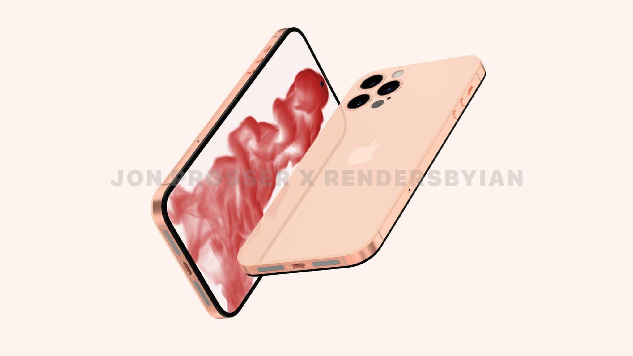 iphone 14 pink gold design